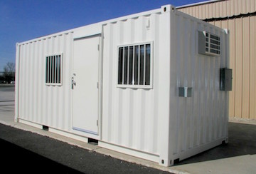 8 x 20 ft security office (container office) in Cary